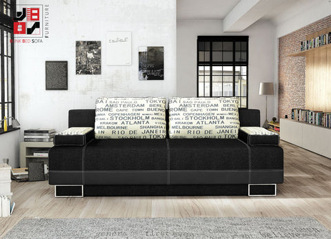VIVIAN - Luxury sofa bed with extra ordinary detail work and functionality >197x90cm<