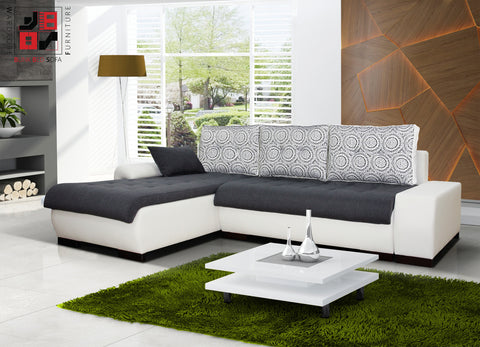 PARIS MINI - Smaller version of our ordinary corner sofa bed >250x180cm<