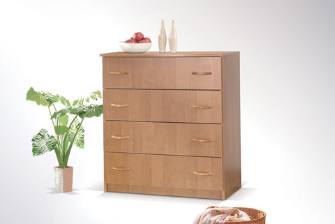 SUSAN I - Modern 4 Drawer Chest with classic design >80cm<