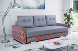 SISI - Modern Colourful Sofa Bed with Storage and Pull Out Bed >230x103cm<