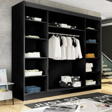 AVA 8.4 - 3 Sliding door wardrobe with LED Lights and the best separator shelf system >250cm<