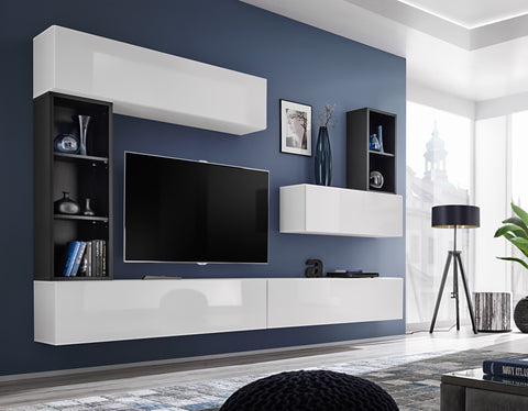 BALI 1 elegant and modern wall unit with high gloss fronts