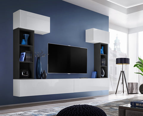BALI 2 elegant and modern wall unit with high gloss fronts