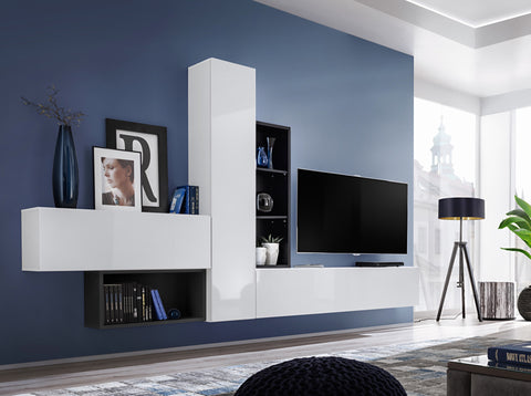 BALI 4 elegant and modern wall unit with high gloss fronts