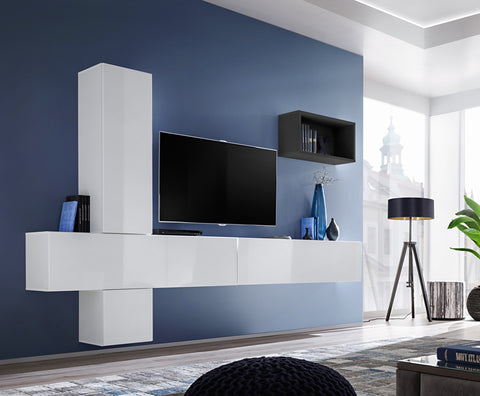 BALI 6 elegant and modern wall unit with high gloss fronts