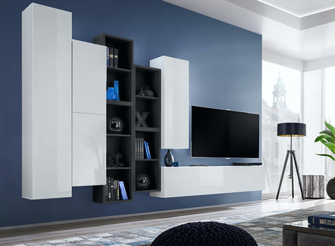 BALI 12 elegant and modern wall unit with high gloss fronts