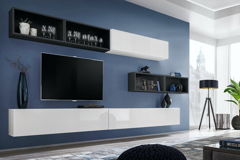 BALI 14 elegant and modern wall unit with high gloss fronts