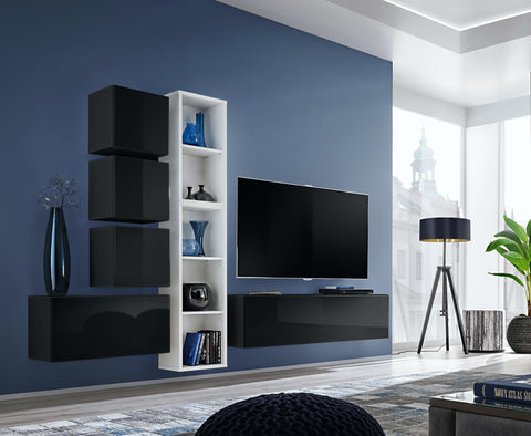 BALI 11 elegant and modern wall unit with high gloss fronts