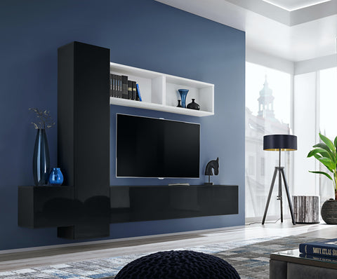 BALI 13 elegant and modern wall unit with high gloss fronts