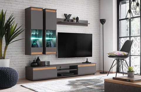 NINO small, elegant wall unit with LED Lights and modern design