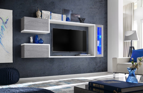DERUTA hanging furniture set with unique design and elegant colour, wall unit with LED Lights