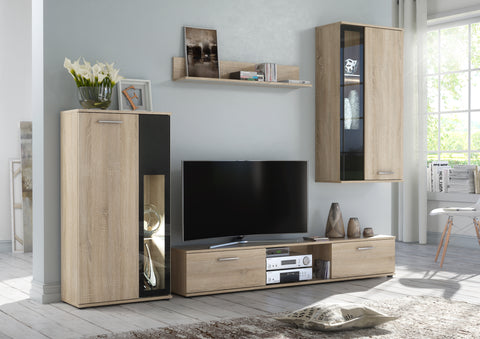 VETICA modern furniture set, elegant wall unit with LED Lights