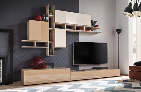 ALASSIO elegant furniture set, wall unit with LED Lights