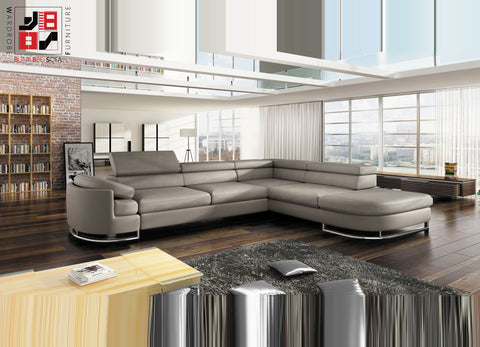 ICERIO - Luxury corner sofa bed which makes every space more valueable >278x224cm<