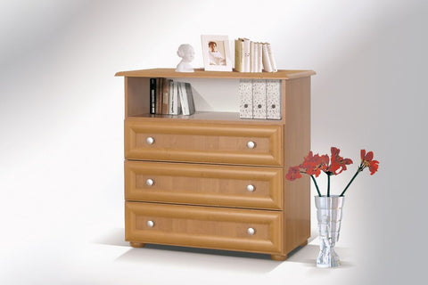 LILY I - Modern 3 Drawer Chest with RTV Stand >84cm<