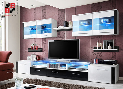 ZOOM - With this TV Wall Unit you will be able to collect gew-gaws from the whole world - Wardrobe-Bunk-Bed-Sofa - 5