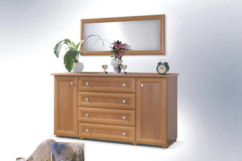 LILY IV - Modern Door Chest with 2 Doors and 4 Drawers >157cm<