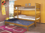 CESARO III - Solid and comfortable triple bunk bed - Wardrobe-Bunk-Bed-Sofa - 3