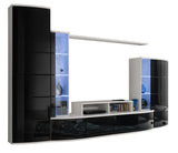 AREZZO modern, futuristic wall unit with LED Lights