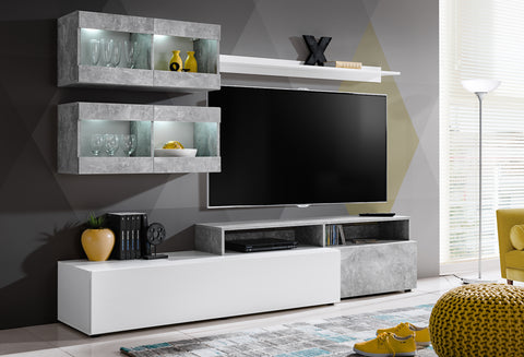 SORANO cute, modern furniture set, small wall unit with LED Lights