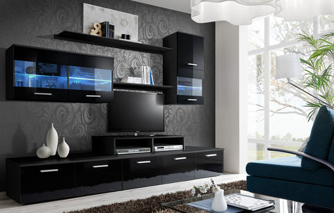 LIDO very elegant and stylish wall unit with LED Lights