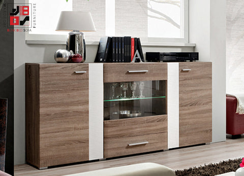 ALEPPO - Unique wooden Chester drawer with corrugating white inserts - Wardrobe-Bunk-Bed-Sofa