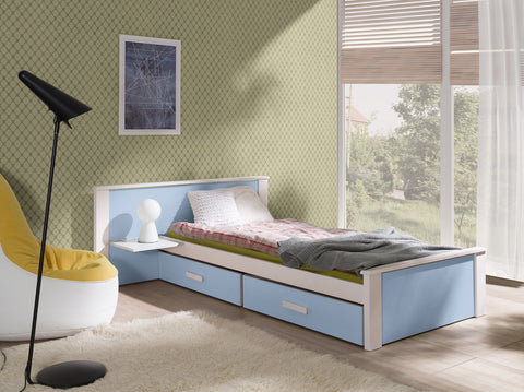 ASTI PLUS - Cute single bed for a child with shelf and 2 big drawers NEW COLLECTION