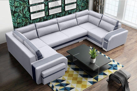 KANSAS U - amazing U-shaped sofa bed with a huge sleeping function >370x205cm< FAST DELIVERY