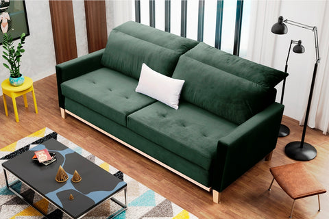 ASIA - lovely sofa bed with sleeping function >213x101cm<