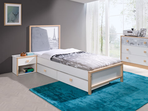 BUNNY - Lovely single bed for a child with 2 big drawers NEW COLLECTION