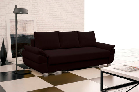 BENITA - Luxury sofa bed with storage and sleeping function >250x109cm<