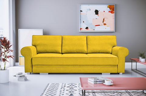 BELLA - classic sofa bed with sleeping function, many colours >256x103cm<