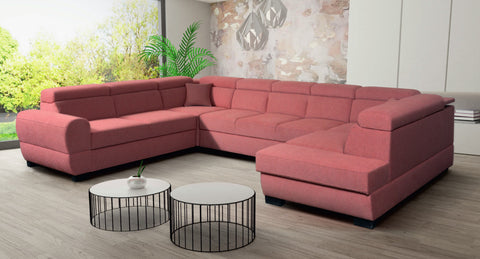 BAILE 4R - Big U-Shaped Sofa with Storage and Sleeping Function optional >364x272cm<