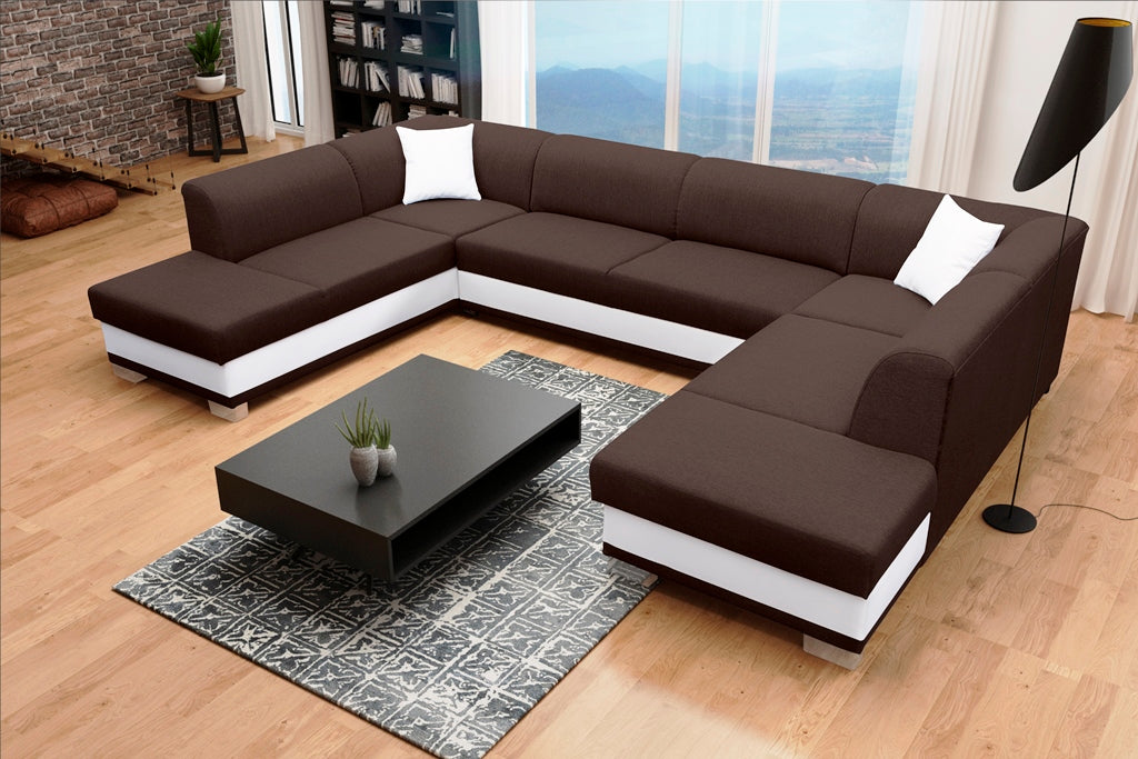 ARCO U - huge elegant U-shaped sofa bed with sleeping function