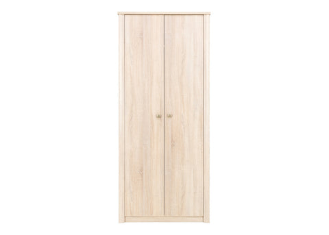 WALTZ 1 - Elegant Wardrobe with Natural Light Wooden Look - 2 doors >90cm<