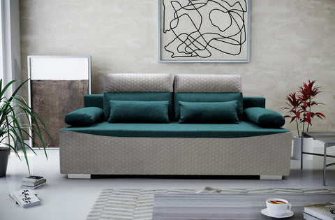 GIANA - modern sofa bed with sleeping function and storage >205x110cm<