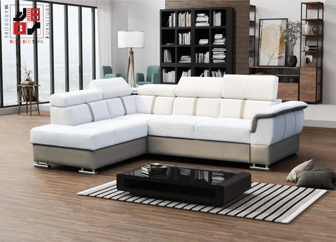HOSANNA - Extremely comfy corner sofa bed with spreading machine >275x210cm<
