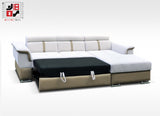 HAVANA - Extremely comfortable corner sofa bed with spreading machine >278x172cm<