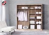 ALFA - 2 Sliding door wardrobe as WBBS Furniture top seller >200x215cm<