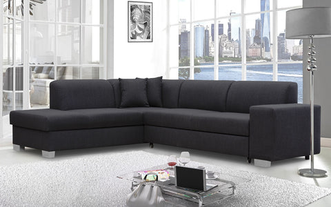 DIDI - Modern Corner Sofa Bed with Storage and Pull Out Bed. 2 Colours >285x220cm<