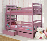 JAC II - Classic wooden bunk bed for children with drawers