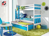 MILIAN - Children triple bunk bed - Wardrobe-Bunk-Bed-Sofa - 1