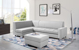 MISSY - Elegant Corner Sofa Bed with Storage, Footstool and Pull Out Bed. Various Colours >270x167cm<