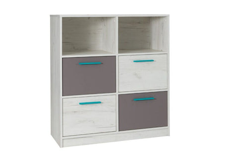 ANDORA A4 - Modern 4 Drawer Chest with Shelves and Elegant Design >97cm<
