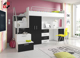 PARADISE I - your loved ones will love it for modern design and functional - Wardrobe-Bunk-Bed-Sofa - 6