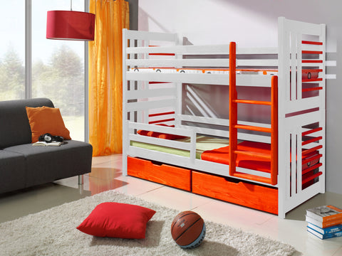 ROLO 2 - Modern and stylish bunk bed with 2 drawers. FAST DELIVERY
