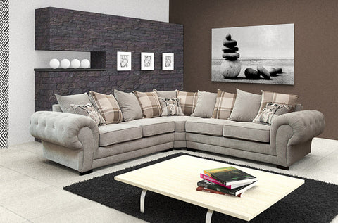 CORDELIA - Luxury Corner Sofa with Elegant Design >265x265cm< NEW COLLECTION!