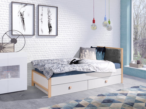 ZUNNY - Single bed for a child with 2 big drawers NEW COLLECTION