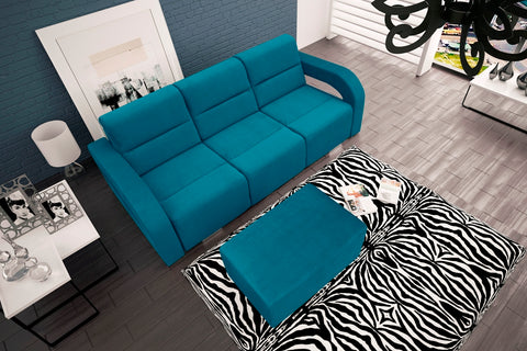 ALICE - Impressive Sofa Bed With Matching Foot Rest >235x110cm<