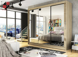 NOTSA 3 -  3 sliding door wardrobe for those who would like to hide mother-in-law >250cm width<